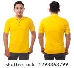 blank collared shirt mock up...   Shutterstock . vector #1293363799