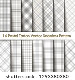 set tartan seamless pattern... | Shutterstock .eps vector #1293380380