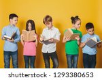 smart children reading books ... | Shutterstock . vector #1293380653