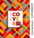 colorful cover design. abstract ...   Shutterstock .eps vector #1293388039