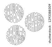 valentine love phrases set in... | Shutterstock .eps vector #1293388309