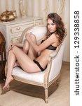 glamorous girl   Shutterstock . vector #129338858