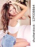 glamorous girl   Shutterstock . vector #129338864