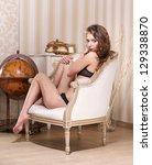 glamorous girl   Shutterstock . vector #129338870