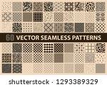 mega pack of 60 brown vector...   Shutterstock .eps vector #1293389329