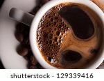 white coffee cup on background | Shutterstock . vector #129339416