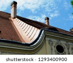 copper flashing detail with... | Shutterstock . vector #1293400900