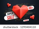abstract super sale banner with ... | Shutterstock .eps vector #1293404110
