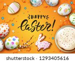 vector greeting card with... | Shutterstock .eps vector #1293405616