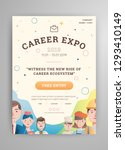 career expo poster with avatar... | Shutterstock .eps vector #1293410149