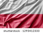 Stock photo waving detailed national country flag of poland 1293412333