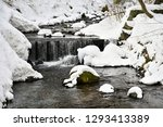 winter stream with stones and...   Shutterstock . vector #1293413389