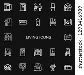 editable 22 living icons for... | Shutterstock .eps vector #1293416989