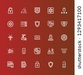 editable 25 privacy icons for... | Shutterstock .eps vector #1293417100