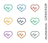 heartbeat icon white background.... | Shutterstock .eps vector #1293419239