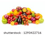 lots fruits and vegetables... | Shutterstock . vector #1293422716