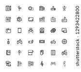 editable 36 pad icons for web... | Shutterstock .eps vector #1293422800