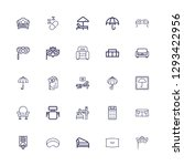 editable 25 comfort icons for... | Shutterstock .eps vector #1293422956