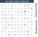 home icons. trendy 100 home... | Shutterstock .eps vector #1293423706