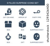 surprise icons. trendy 9... | Shutterstock .eps vector #1293426400