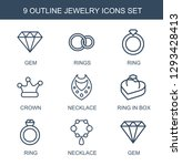 jewelry icons. trendy 9 jewelry ... | Shutterstock .eps vector #1293428413