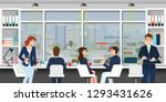 office workplace with business...   Shutterstock .eps vector #1293431626