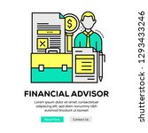 financial advisor banner concept | Shutterstock .eps vector #1293433246