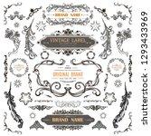 set of vintage decorations... | Shutterstock .eps vector #1293433969