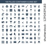 100 container icons. trendy... | Shutterstock .eps vector #1293439183
