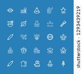 editable 25 preparation icons... | Shutterstock .eps vector #1293439219