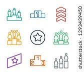 9 rank icons. trendy rank icons ... | Shutterstock .eps vector #1293439450