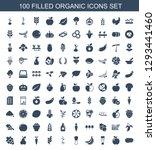 organic icons. trendy 100... | Shutterstock .eps vector #1293441460
