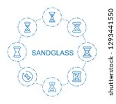 sandglass icons. trendy 8... | Shutterstock .eps vector #1293441550