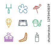 9 recreation icons. trendy... | Shutterstock .eps vector #1293443839