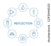 8 reflection icons. trendy... | Shutterstock .eps vector #1293444010