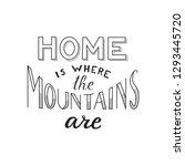 hand drawn vector lettering...   Shutterstock .eps vector #1293445720