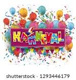"german text ""karneval""... | Shutterstock .eps vector #1293446179"