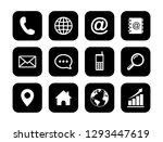web icon set vector  contact us ... | Shutterstock .eps vector #1293447619