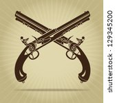 vintage crossed flintlock