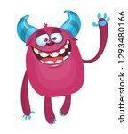 cartoon furry monster.... | Shutterstock .eps vector #1293480166