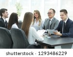 business team at a meeting in... | Shutterstock . vector #1293486229