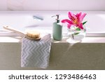 relax at home luxury bathroom... | Shutterstock . vector #1293486463