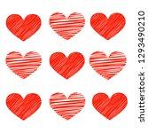 heart red vector | Shutterstock .eps vector #1293490210