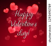 happy valentines day greeting... | Shutterstock .eps vector #1293490789