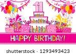 happy birthday card.... | Shutterstock .eps vector #1293493423