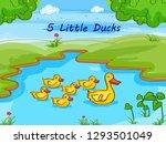 nursery rhymes five little duck ... | Shutterstock .eps vector #1293501049