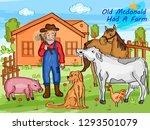 nursery rhymes old mcdonald had ... | Shutterstock .eps vector #1293501079