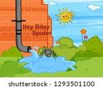 nursery rhymes itsy bitsy... | Shutterstock .eps vector #1293501100