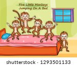 nursery rhymes five little... | Shutterstock .eps vector #1293501133