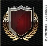 golden shields with laurel... | Shutterstock .eps vector #129350333